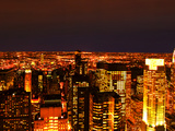 Night View of Manhattan, New York City Photographic Print by Sabine Jacobs