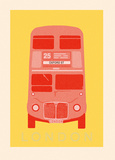 London - Bus Giclee Print by Ben James