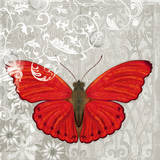Red Butterfly I Posters by Alan Hopfensperger