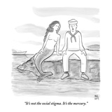 """It's not the social stigma. It's the mercury.""  - New Yorker Cartoon Premium Giclee Print by Paul Noth"