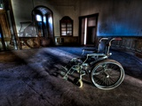 Wheeled into Darkness Photographic Print by Nathan Wright