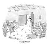 """Free popcorn!"" - New Yorker Cartoon Premium Giclee Print by Jack Ziegler"