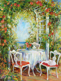 Tea With Kitty Giclee Print by  Carson