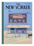 The New Yorker Cover - December 3, 2012 Reproduction procédé giclée par Wayne Thiebaud