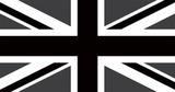 Union Jack Dark-Vinyl Sticker Klistermærker