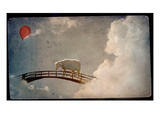 A  Sheep on a Bridge in the Sky Photographic Print by Mia Friedrich