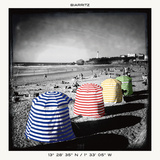 Biarritz Playa Prints by Anne Valverde