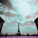Black Eiffel Prints by Anne Valverde