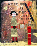 Writing is Easy Giclee Print by Barbara Olsen