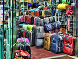 Luggage Store on Times Square, Manhattan, New York City Photographic Print by Sabine Jacobs