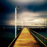 A Long Jetty with Lamp Posts Photographic Print by Mark James Gaylard