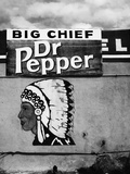 Native American Profile and Dr. Pepper Sign, San Ysidro, New Mexico Photographic Print by Kevin Lange