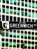 Street Sign, Lower Manhattan, New York City Photographic Print by Sabine Jacobs