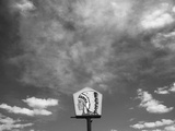 New Mexico Sky and Native American Sign Abstract Landscape, San Ysidro Photographic Print by Kevin Lange