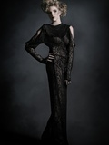 The Black Dress Photographic Print by  Winter Wolf Studios