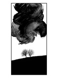 Two Trees Below a Large Painted Cloud Photographic Print by Martina Zancan