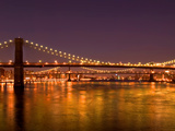 Brooklyn Bridge at Night, New York City Photographic Print by Sabine Jacobs