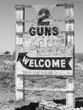 Arizona Sign for Two Guns Ghost Town Near Flagstaff Photographic Print by Kevin Lange