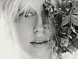 A Young Woman with Blonde Hair and Freckles Photographic Print by Martina Zancan