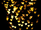 Bokeh Hearts Photographic Print by Sharon Wish