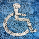Weathered Pictogram, Wheelchair Accessible Photographic Print by Bernard Jaubert