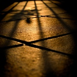 Shadows on Floor Tiles Photographic Print by Eudald Castells