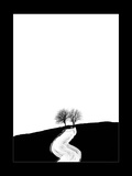 Two Trees and a Painted Path Photographic Print by Martina Zancan