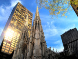 St. Patrick's Cathedral and Other Buildings on 5th Avenue, New Y Photographic Print by Sabine Jacobs
