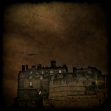 Edinburgh Castle under a Stormy Sky Photographic Print by Eudald Castells