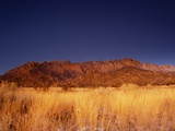 Sandia Mountains Desert Twilight Landscape, New Mexico Photographic Print by Kevin Lange