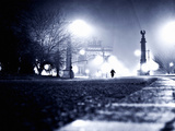 Foggy Night in Brooklyn, New York City Photographic Print by Sabine Jacobs