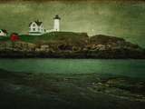 Lighthouse on the Maine Coastline Photographic Print by Sabine Jacobs