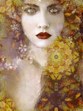 Autumn Bride of Nature Photographic Print by Elizabeth May and Alaya Gadeh
