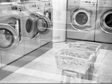 Washing Machines, Laundrette, Paris, France, 2010 Photographic Print by Paul Cooklin