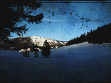 Winter Landscape with Single Mountain, Austria. Photographic Print by Sabine Jacobs