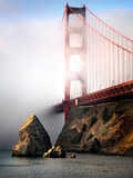 The Golden Gate Bridge Shrouded in Mist at Sunrise Photographic Print by Jody Miller