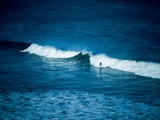 A Lone Surfer on a White Wave Photographic Print by Mark James Gaylard