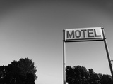 Motel Sign in Black and White, Page, Arizona Photographic Print by Kevin Lange