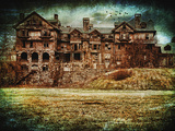 Gloomy College in the Fall Photographic Print by Sabine Jacobs