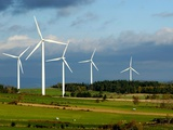 General View of the Ally Mercoeur Windfarm. Auvergne. France Photographic Print by Bernard Jaubert