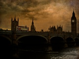 A View of Big Ben in London from the River Thames Photographic Print by Eudald Castells