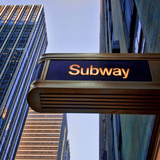 Subway, Manhattan, New York City Photographic Print by Sabine Jacobs