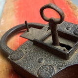 Old Key and Lock Photographic Print by Bernard Jaubert