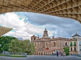 Anunciacion Church as Seen from Metropol Parasol Building, Seville, Spain Photographic Print by Felipe Rodriguez