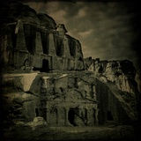 An Ancient Monument at Petra Photographic Print by Eudald Castells