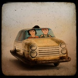An Old Tin Toy Car Photographic Print by Eudald Castells