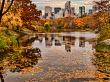 Central Park with Central Park South in the Fall, Manhattan, New Photographic Print by Sabine Jacobs