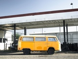 Yellow Bus and Deserted Gas Station, Page, Arizona Photographic Print by Kevin Lange