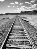 Klan00088 Moab Train Tracks Desert Landscape Utah Photographic Print by Kevin Lange