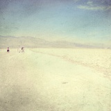 A Little Group of People in the Sand of the Death Valley Photographic Print by Kimberley Ross